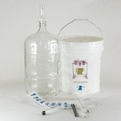Basic Gold Wine Equipment Kit with 6 Gallon Glass Carboy