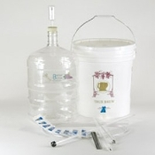 Basic Gold Wine Equipment Kit with 6 Gallon PET Carboy