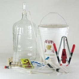 Fine Wine Equipment Kit with 6 Gallon Glass Carboy